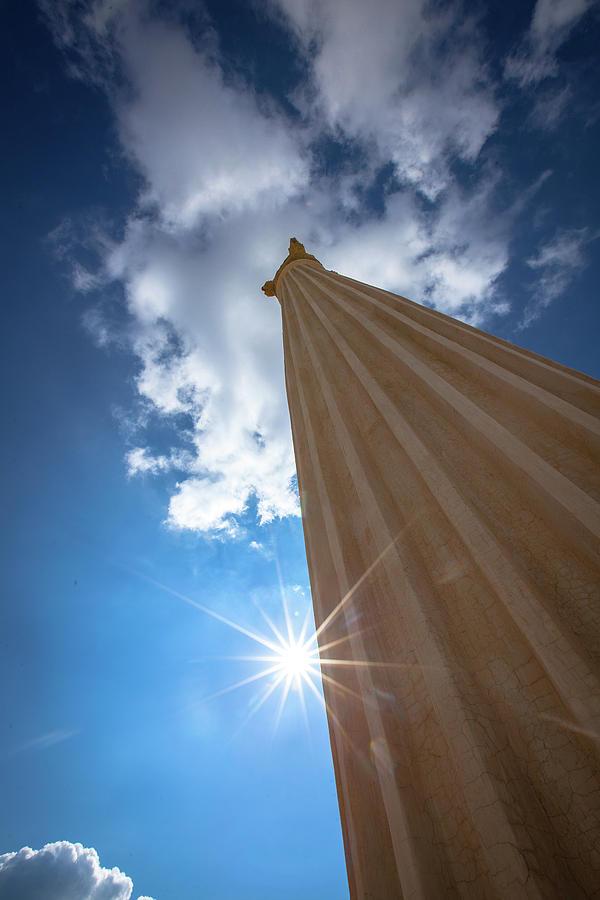 Sky Photograph - Column to Sky by Ibrahim Azaga