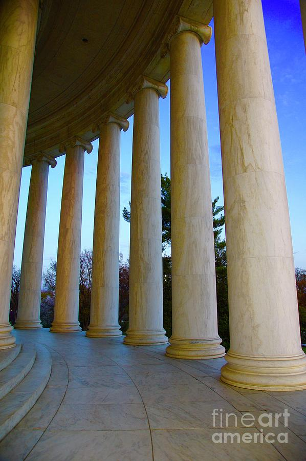 Jefferson Memorial Photograph - Columns At Jefferson by Megan Cohen