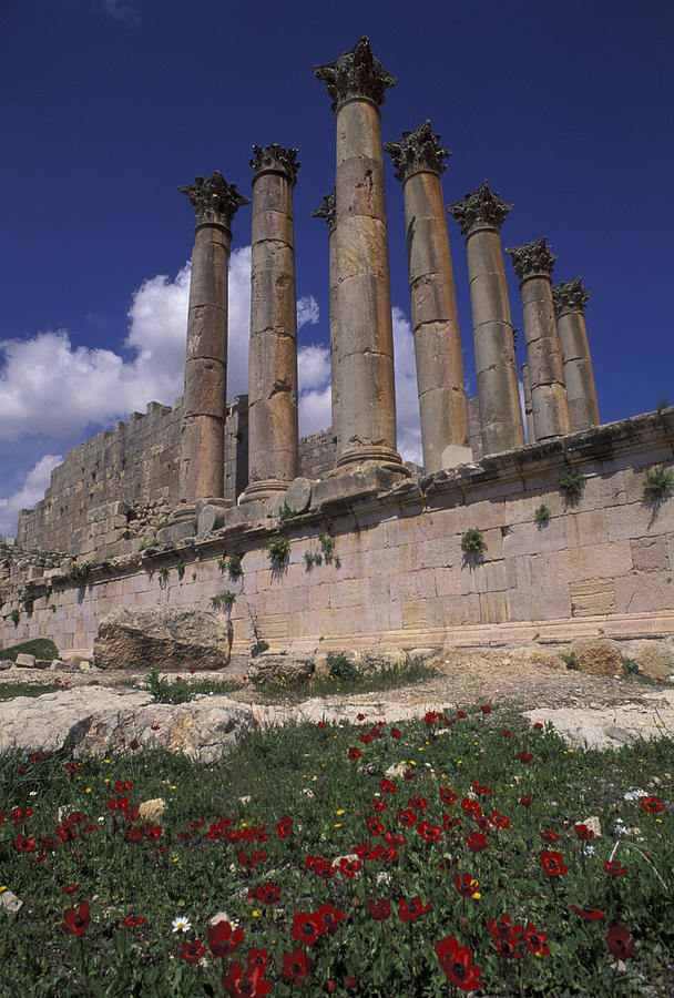 Architecture Photograph - Columns In The Ancient Roman City by Richard Nowitz