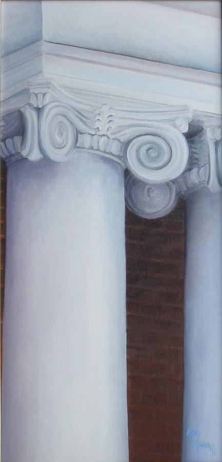 Columns Painting - Columns Of Davidson Hall by Mary Rogers