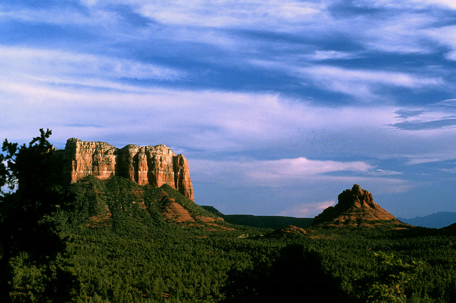 Sedona Photograph - Colurt House Butte And Bell Rock by Gary Wonning