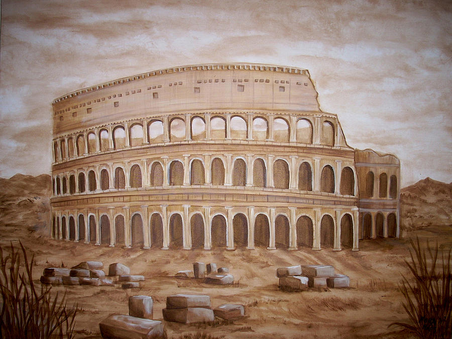 Coloseum Painting - Coluseum by Nora Niles