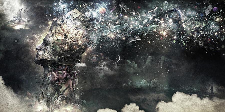 Cameron Gray Digital Art - Coma by Cameron Gray