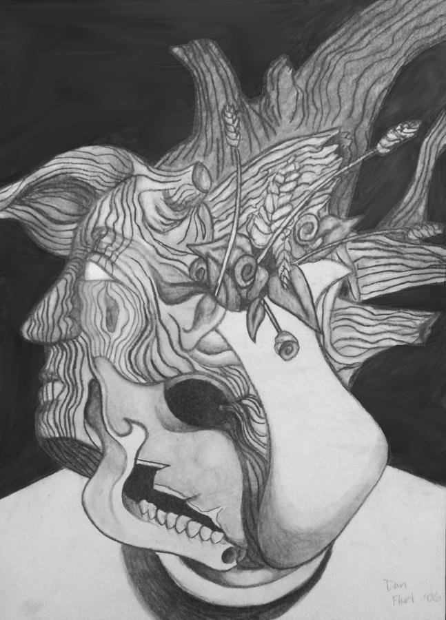 Charcoal Painting - Combination Study by Dan Fluet