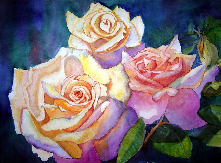 Roses Painting - Combo Of Roses by Cecilia Price