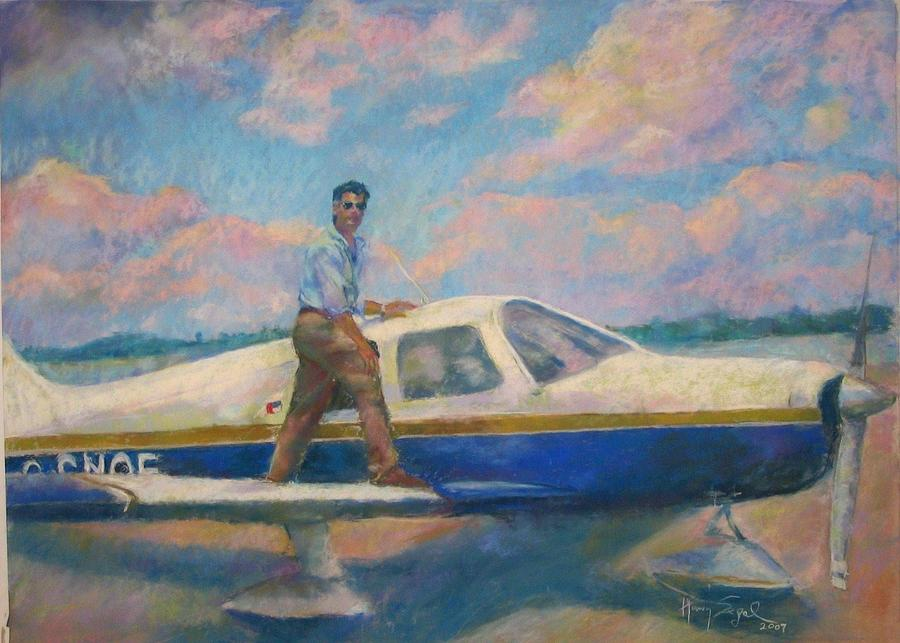 Portrait Painting - Come Fly With Me by Harvey Segal