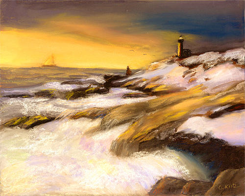 Seascape Painting - Come Home by Gail Kirtz