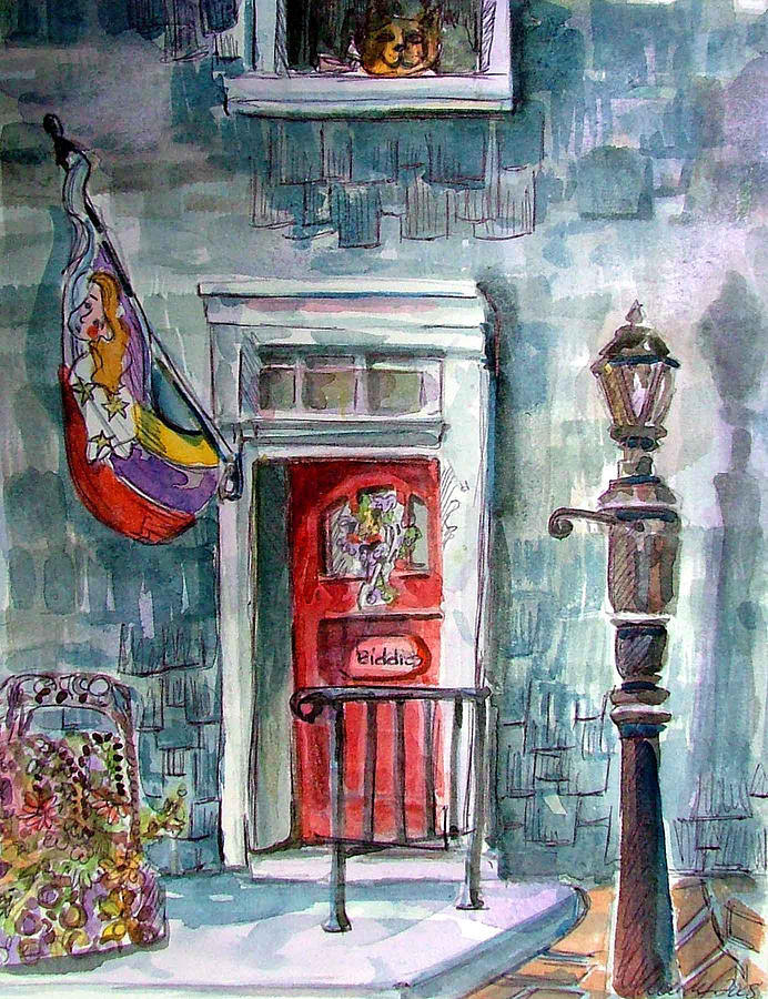 Door Painting - Come In by Mindy Newman