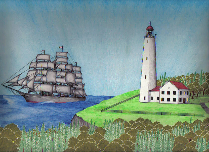 Ships Drawing - Come Sail Away by David Flower