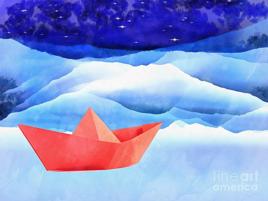 Acrylic Painting - Come Sail Away With Me by Edward Fielding