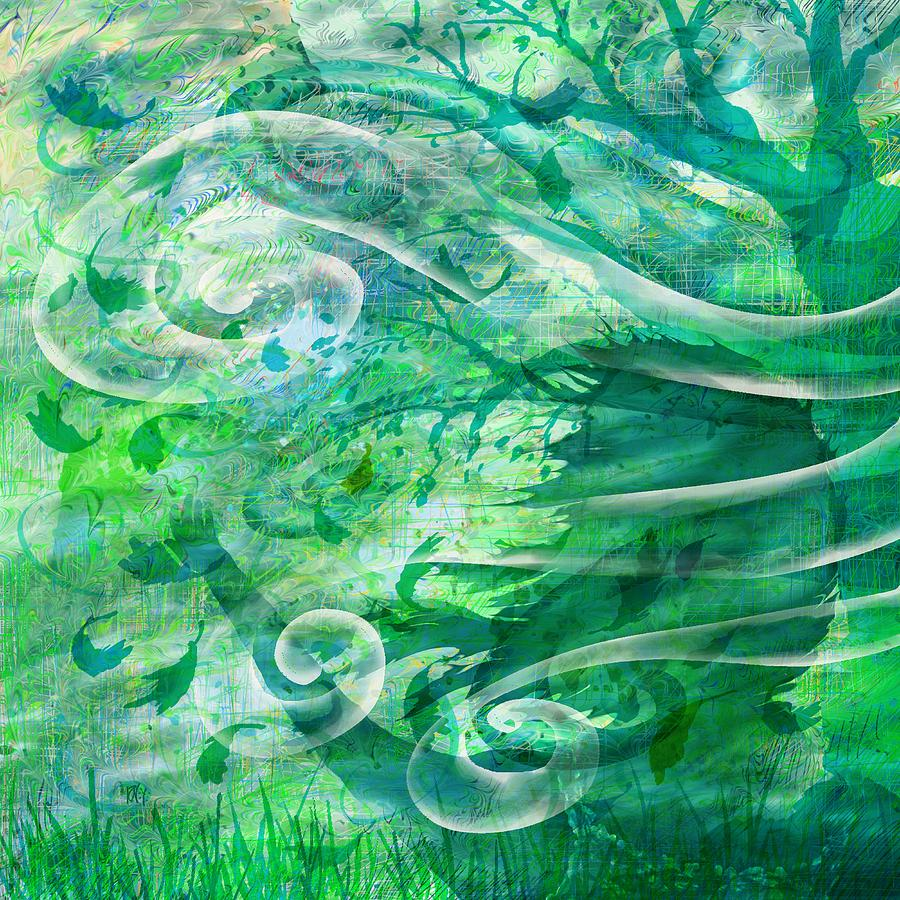 Abstract Digital Art - Come To Me by Rachel Christine Nowicki