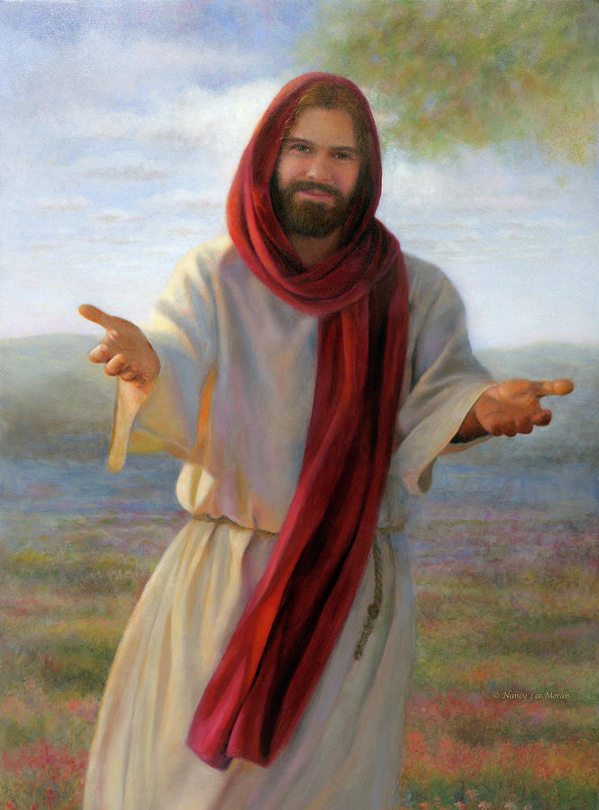 Jesus Christ Painting - Come Unto Me by Nancy Lee Moran
