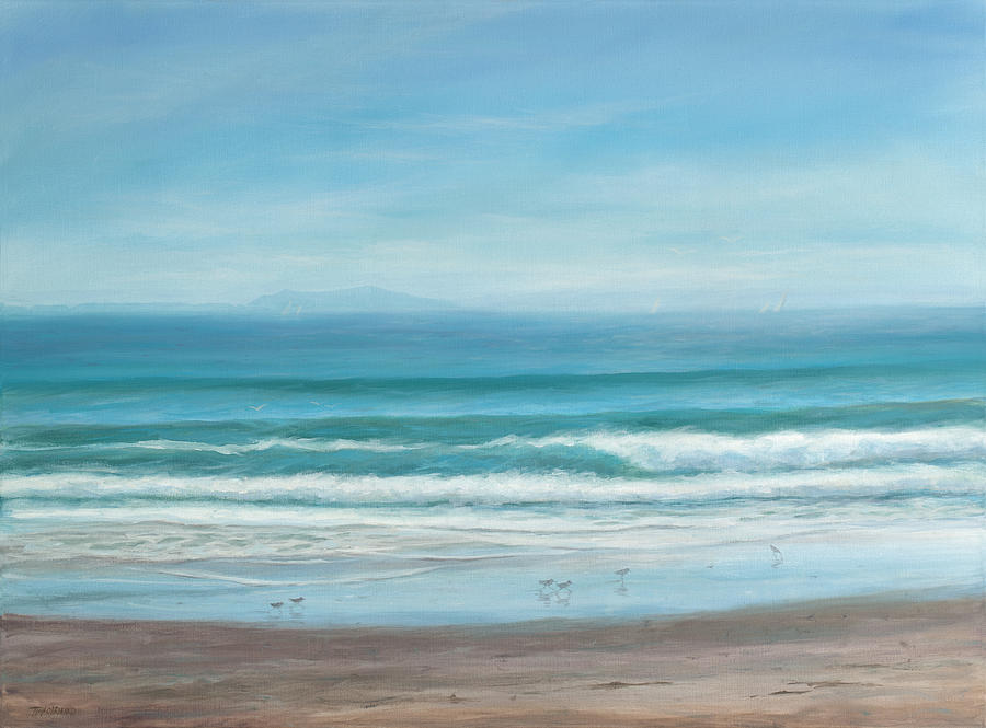 Channel Islands Painting - Come With Me To The Sea by Tina Obrien