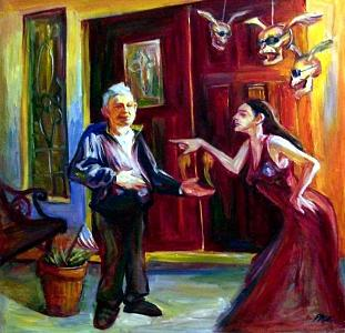 Rich And Poor Painting - Comedy And Tragedy by Paz Winshtein