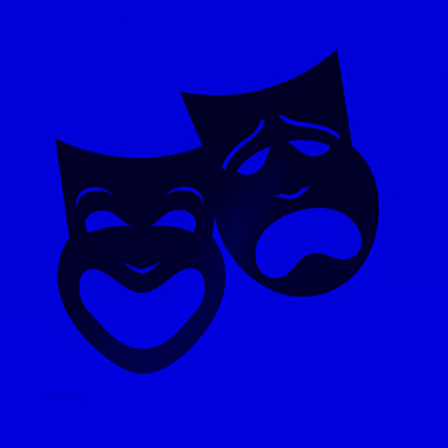 Comedy And Tragedy Photograph - Comedy N Tragedy Blue by Rob Hans