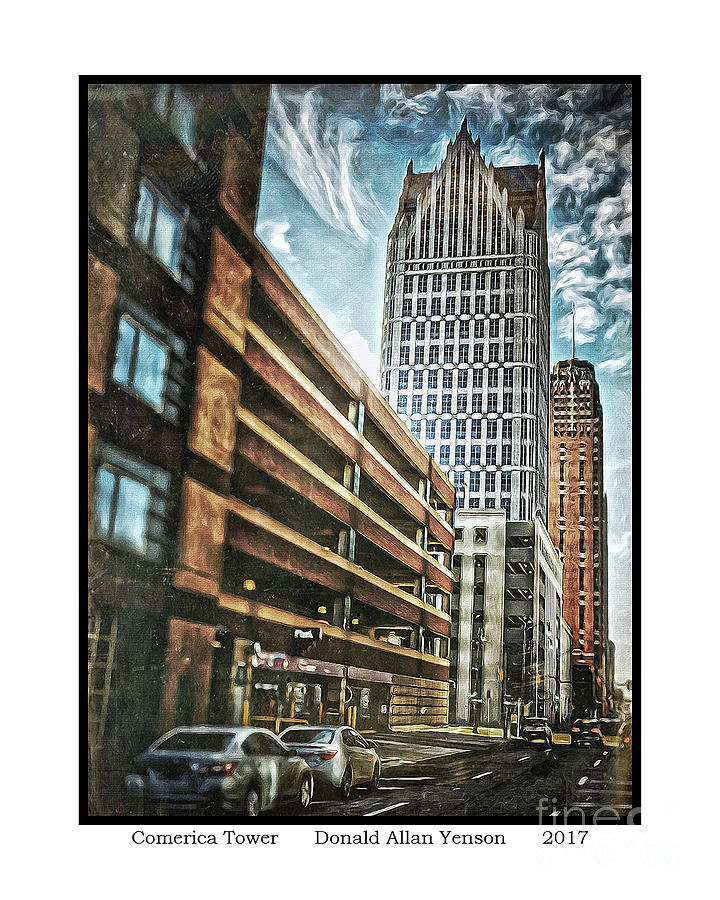 Tower Photograph - Comerica Tower by Donald Yenson