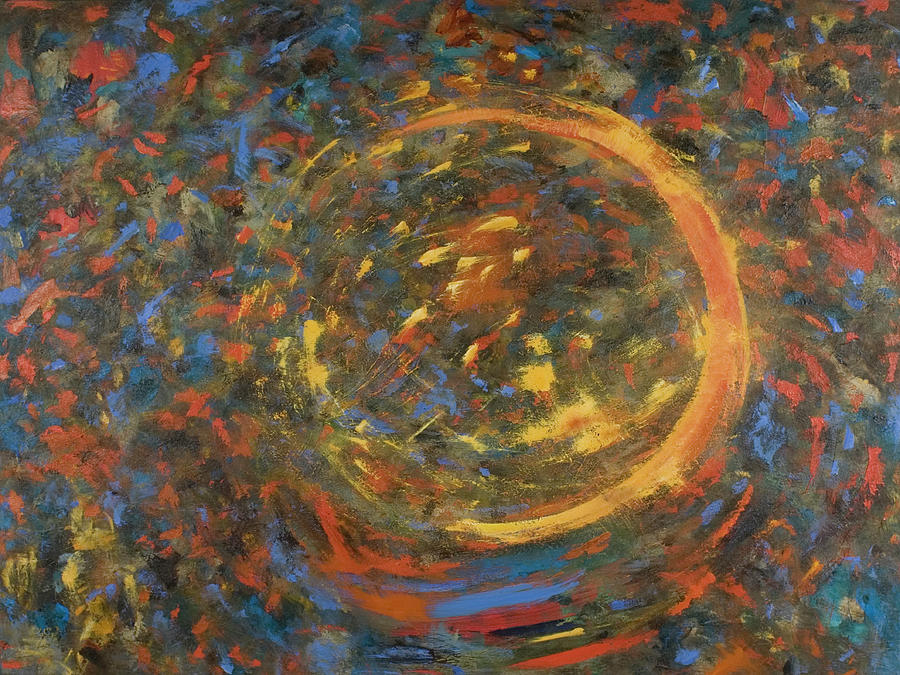 Abstract Painting - Comet #2 by Gretchen Dreisbach