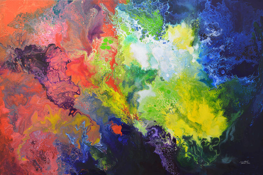 Abstract Painting - Comet by Sally Trace