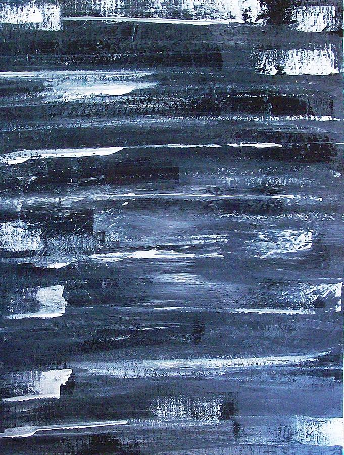 Abstract Painting - Comets In The Night by Roy Penny