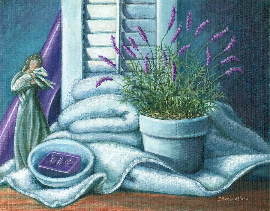 Lavender Painting - Comfort by Colleen  Maas-Pastore