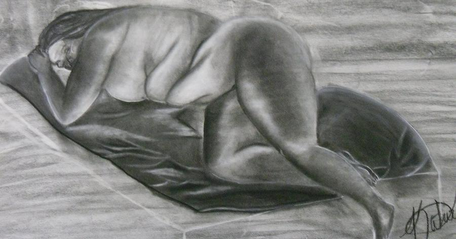 Woman Drawing - Comfort Zone by Katrice Kinlaw