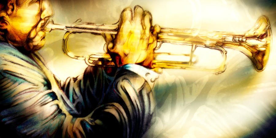 Jazz Artwork Pastel - Comfort Zone by Mike Massengale