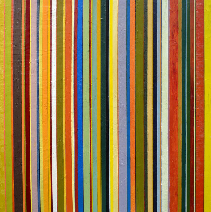 Textured Painting - Comfortable Stripes by Michelle Calkins