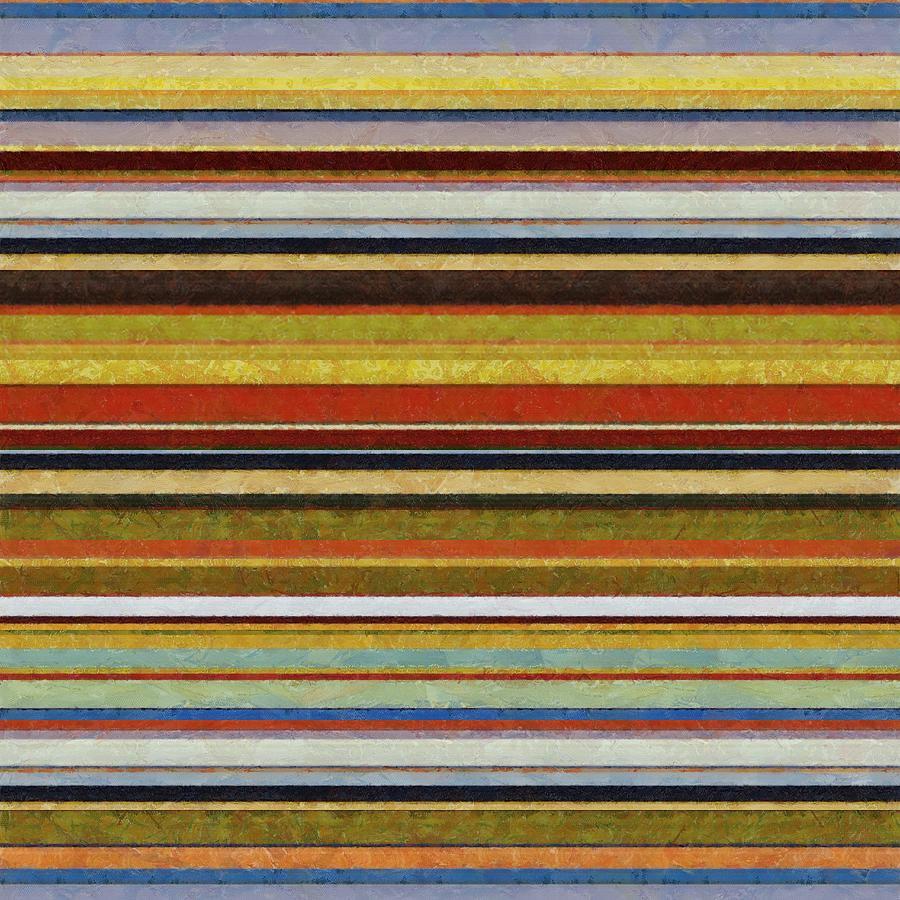 Textured Digital Art - Comfortable Stripes Vl by Michelle Calkins