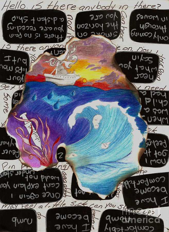 Ship Mixed Media - Comfortably Numb by Syvanah  Bennett