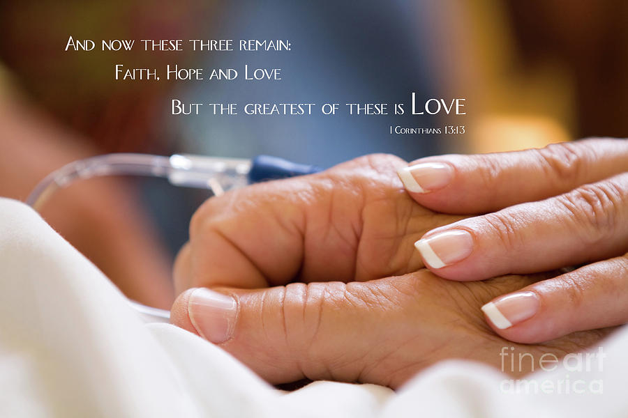 Comforting Hand Of Love by Steven Frame