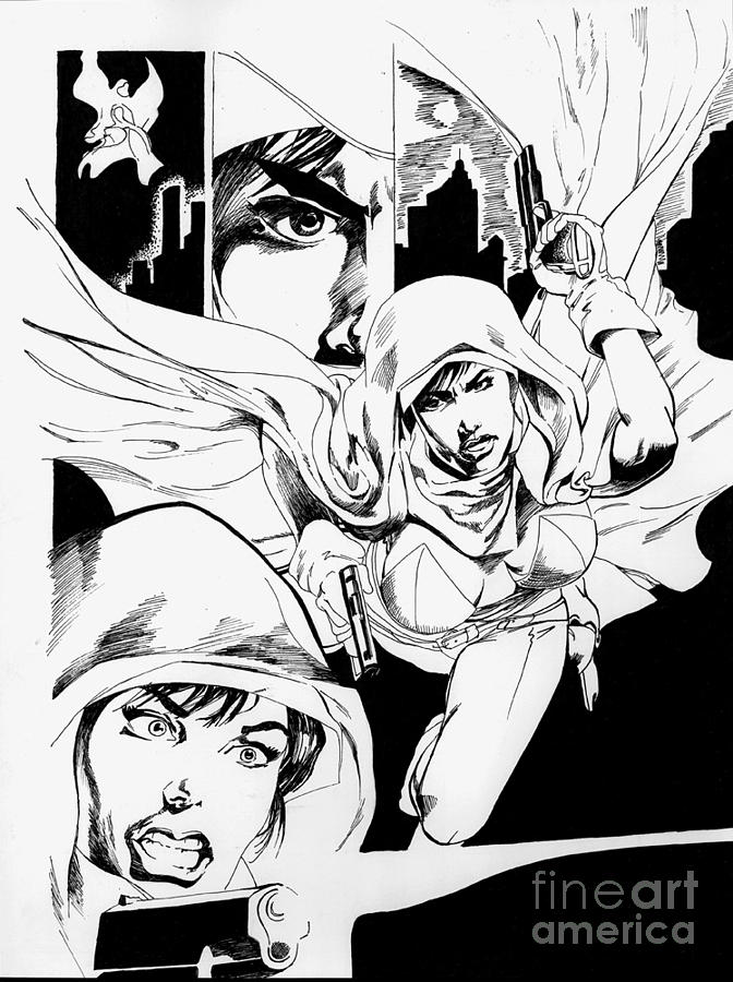 Comic Art Montage Drawing by Mary Dannegger