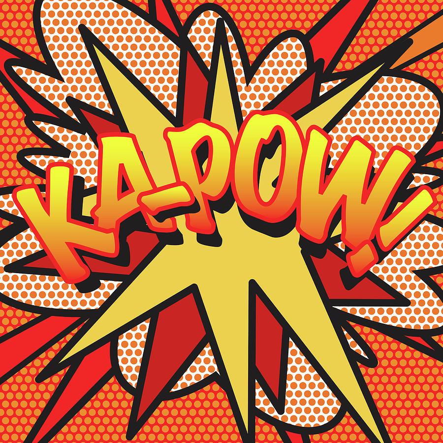 Comic Book Pop Art Kapow Digital Art by David Nicholls