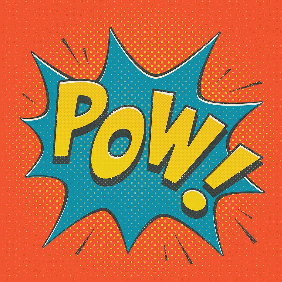 Comic Digital Art - Comic Pow by Mitch Frey