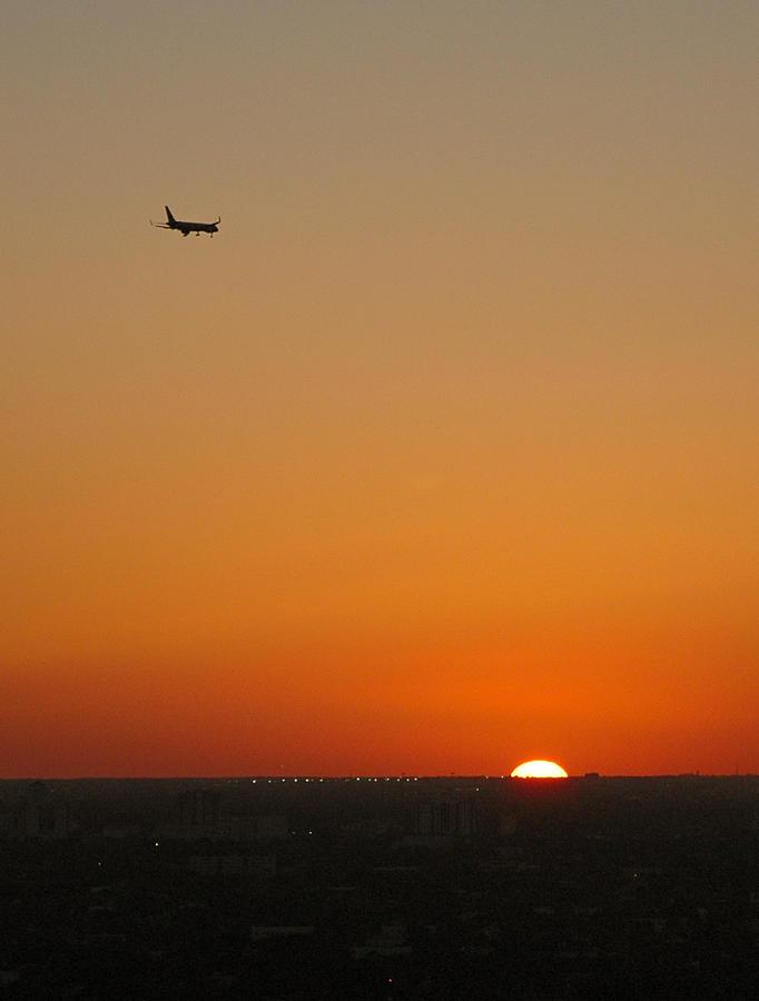 Plane Photograph - Comin Home - Miami by Frank Mari