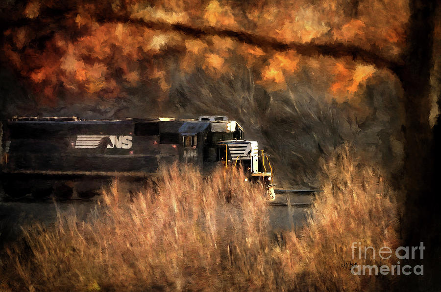 Train Photograph - Comin Round The Mountain by Lois Bryan