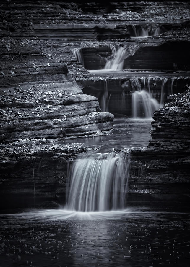 Water Photograph - Coming Down Gently by Evelina Kremsdorf