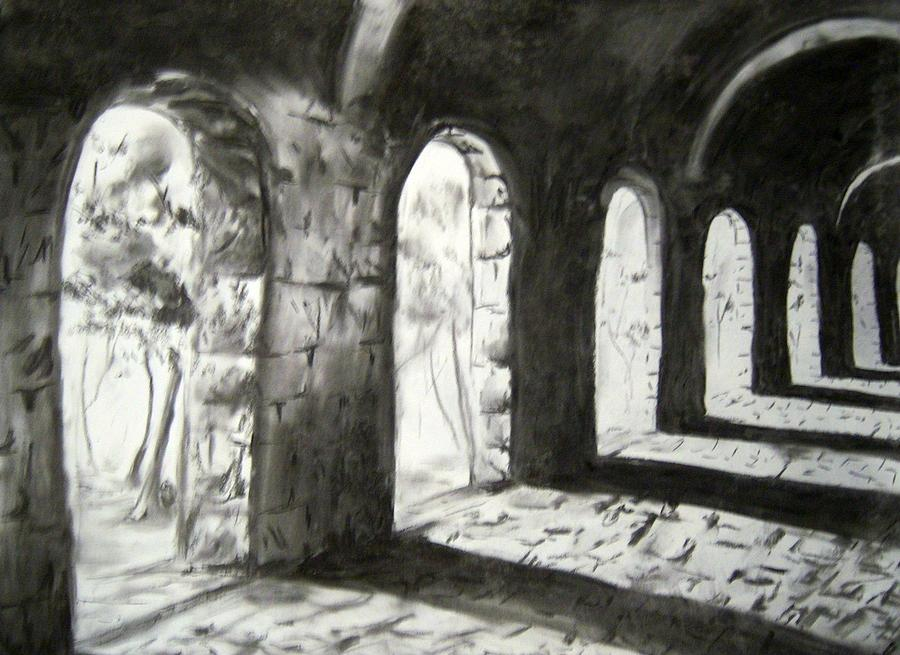 Charcoal Drawing - Coming Forward by Alice Chen