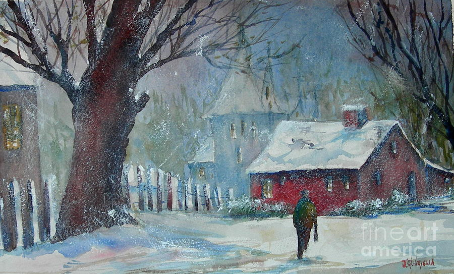 Landscape Painting - Coming Home 2 by Joyce A Guariglia