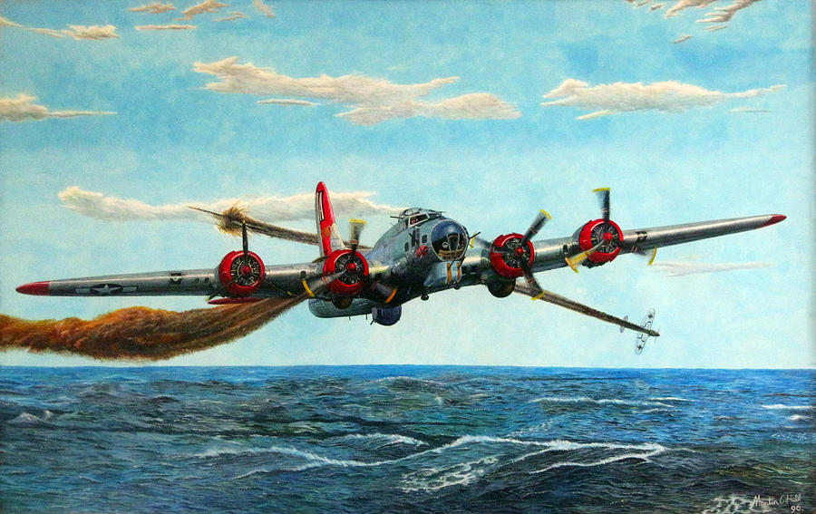Coming Home Boeing B 17 Flying Fortress V2 Painting By