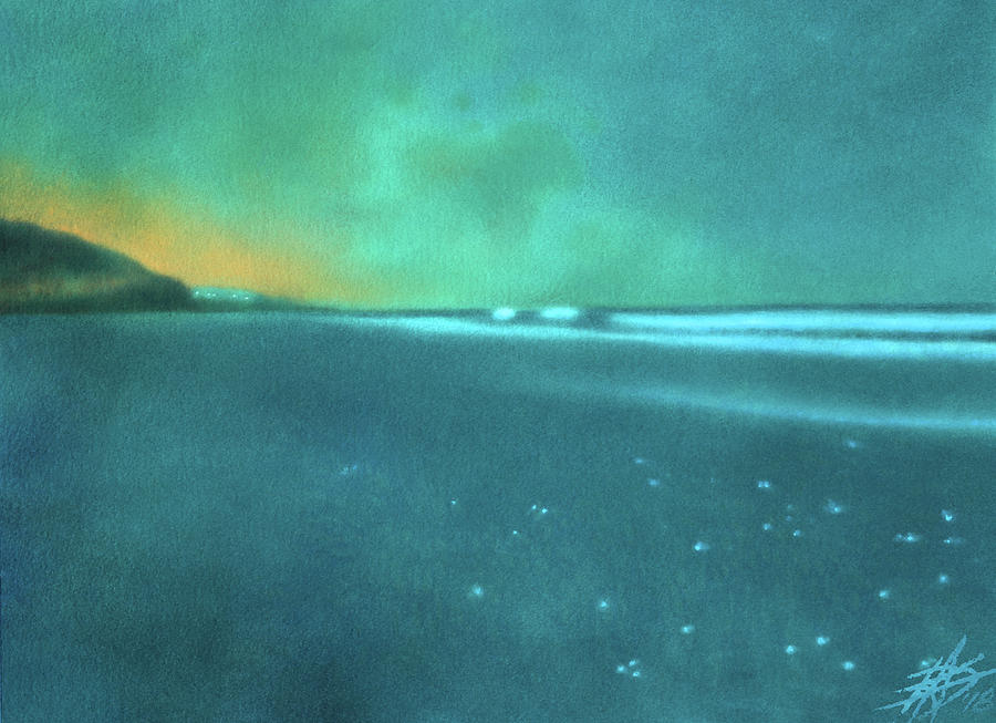 Beach Painting - Luminescence At Torrey Pines by Robin Street-Morris