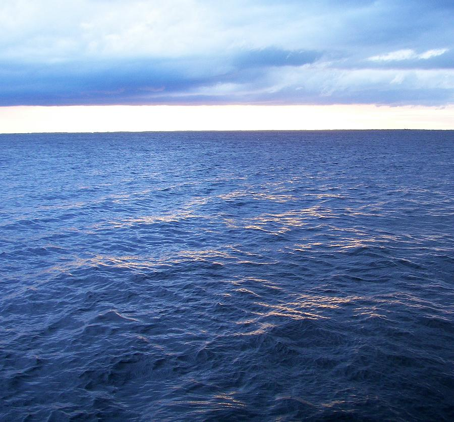Water Photograph - coming in to my anchorage on the Peace River by Charles Peck