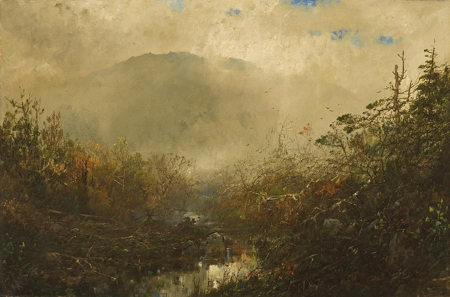 Wild Painting - Coming Storm In The Adirondacks by William Sonntag