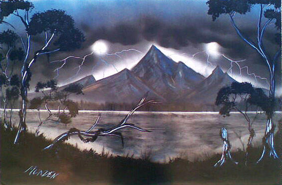 Lightning Painting - Coming Storm by Jonathan Munden
