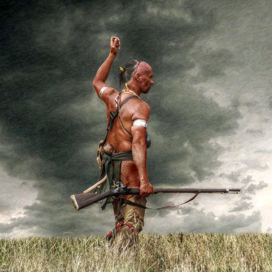 Warrior Digital Art - Coming Storm by Randy Steele