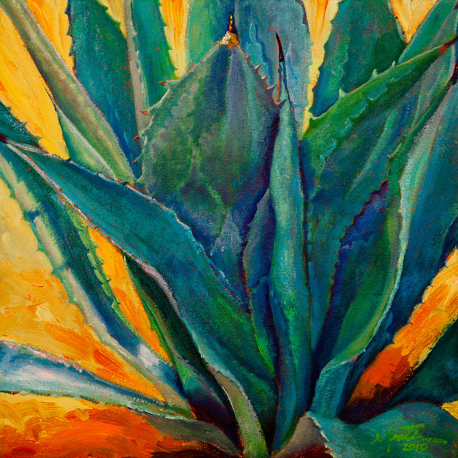 Agave Painting - Coming Through by Athena Mantle