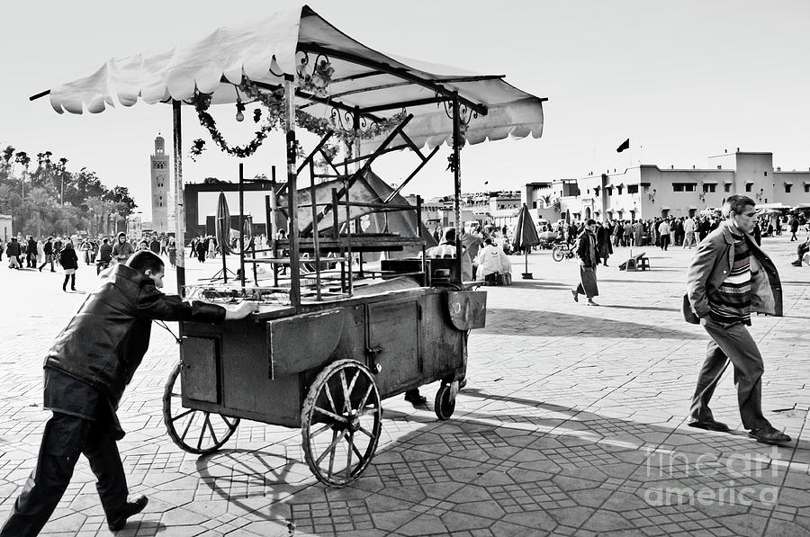Marrakesh Photograph - Coming Through... by Marion Galt