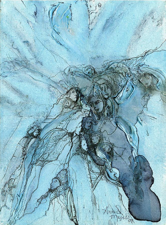 People Painting - Coming To Sense  by Anne-D Mejaki - Art About You productions