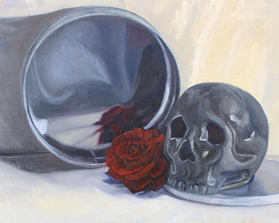 Still Life Painting - Coming  Up Roses by Margaret Marzullo