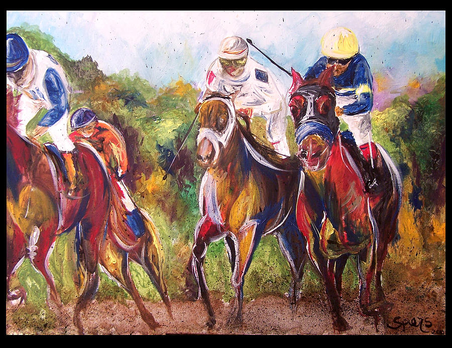 Line Painting - Comissioned Line Of David 2010 Ak Derby Winner  by Amanda  Sanford