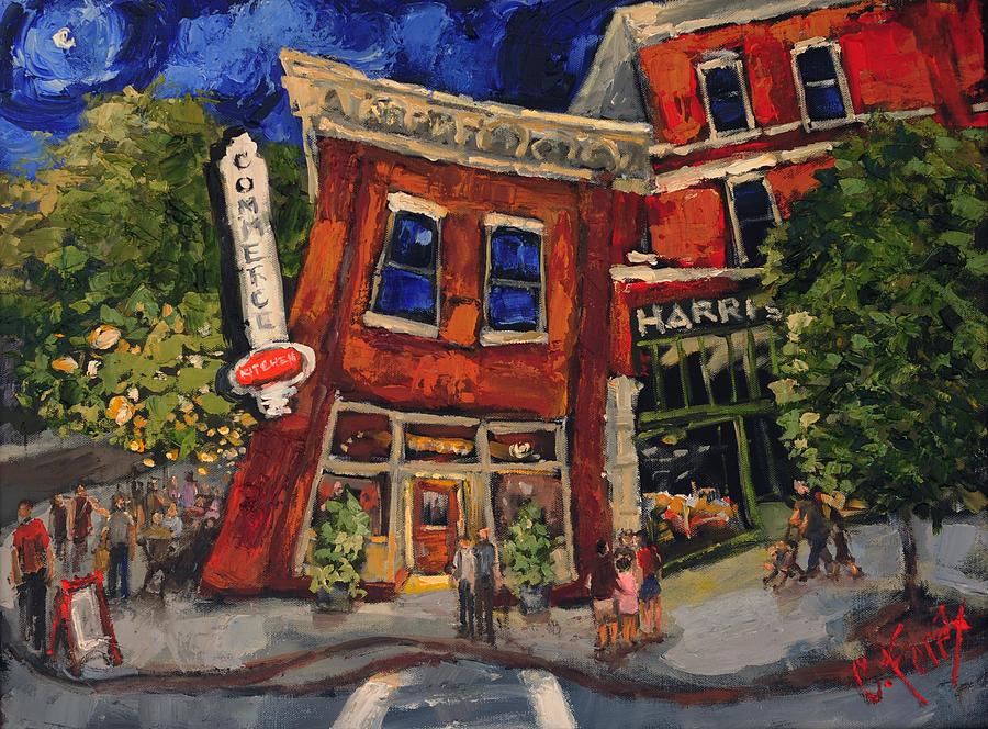 Commerce Kitchen Huntsville Alabama Painting by Carole Foret